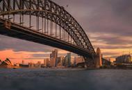 Image of Sydney Harbour Bridge at dusk
