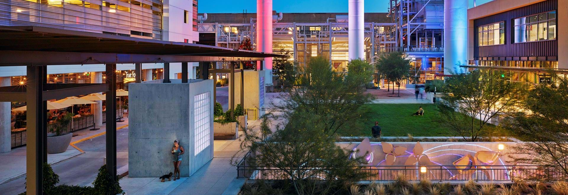 Seaholm Mixed-Use Development courtyard area