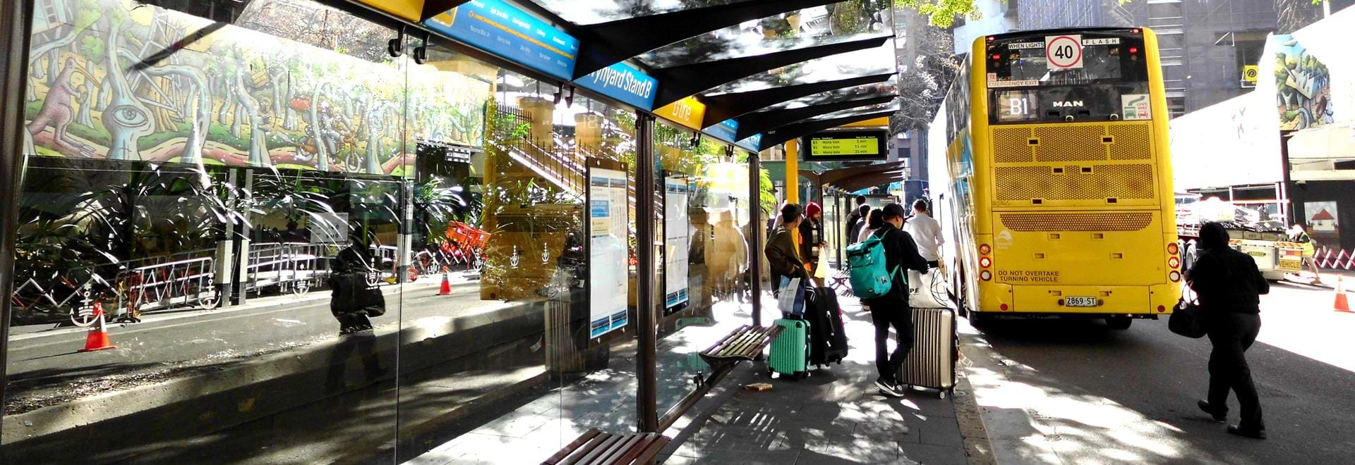 Photo of one of the B line bus stations