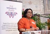 Shirleen Ali presenting at the Fiji Women's Expo 2018