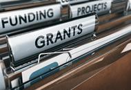 Image showing folders with grants, projects, and funding labels