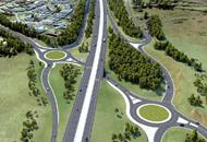 Arial photo of NSW Highway Albion Park roundabouts