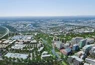 Aerial visualisation of the Greater springfied development area