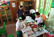 Checking School records in a rural school