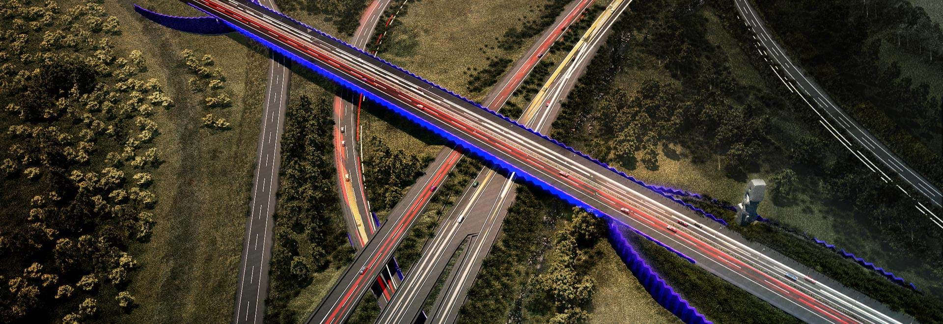 Computer render of Peninsula Link project completed by TGM Group.